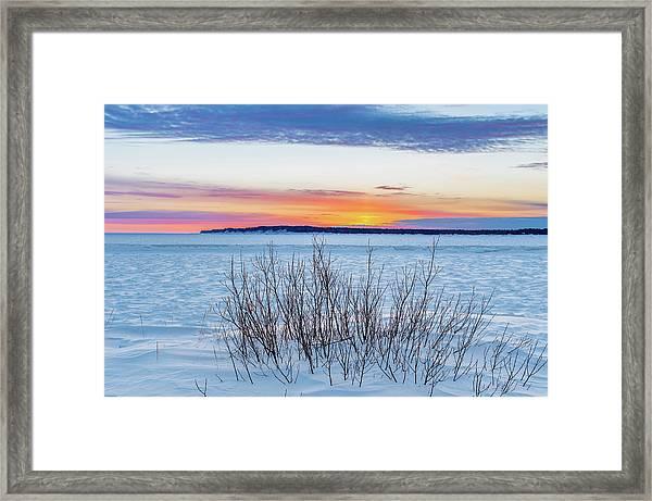 Daybreak Over East Bay Framed Print