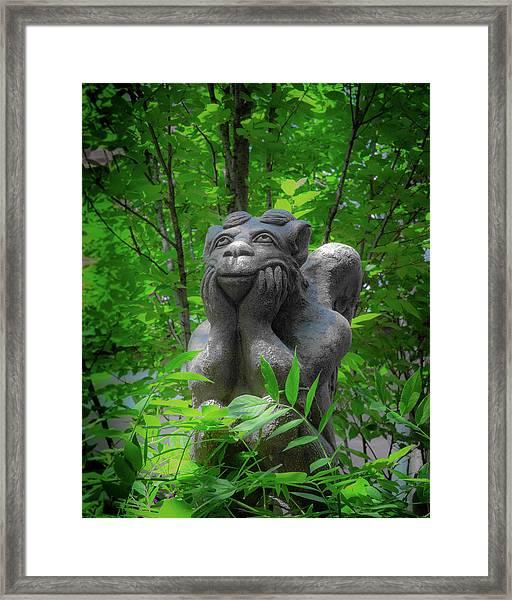 Daydreaming Gargoyle Framed Print