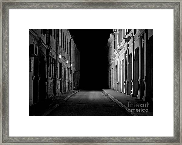 Deadend Alley Framed Print