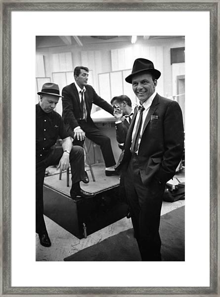 Dean Martinsammy Jr. Davisfrank Sinatra Framed Print
