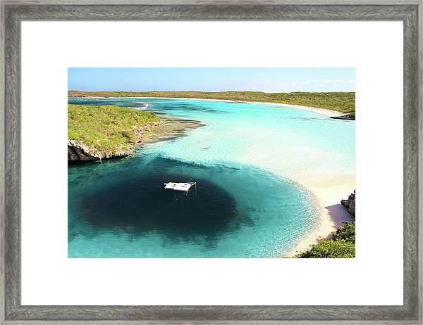 Deans Blue Hole.bahamas Framed Print