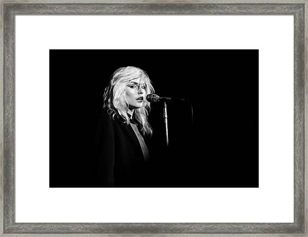 Debbie Harry Performs Live Framed Print