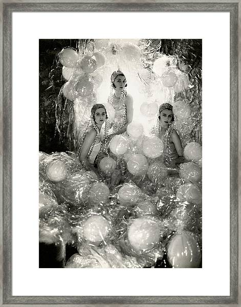 The Debutantes In Costume Framed Print by Cecil Beaton