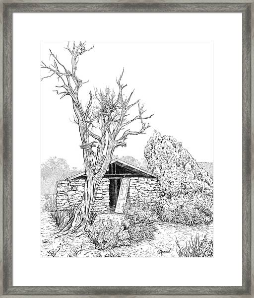 Decay Of Calamity The Half Life Of A Dream Black And White  Framed Print
