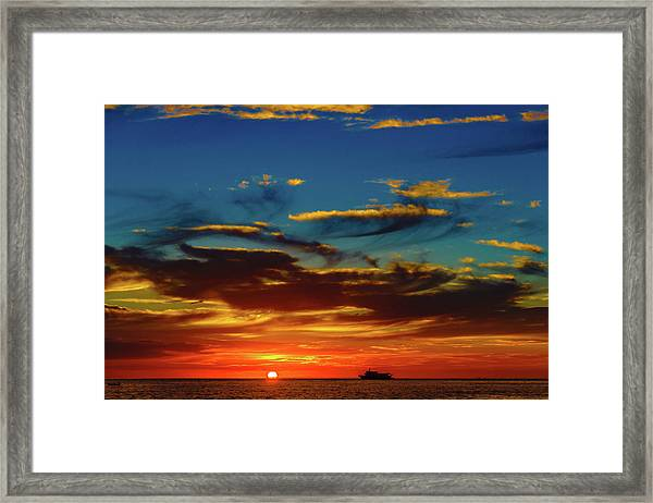 December 17 Sunset Framed Print