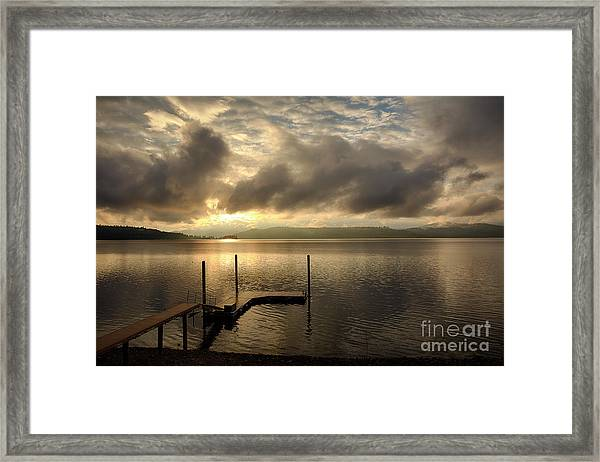 December Skies Framed Print