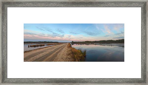 Framed Print featuring the photograph December Sunset At Whitesbog Nj by Beth Sawickie