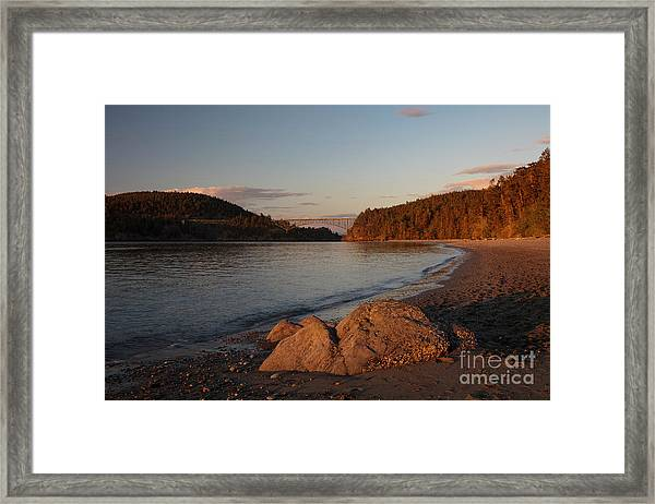 Deception Pass Beach Framed Print