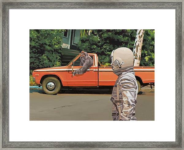 Decline Of The Planet Of The Apes Framed Print