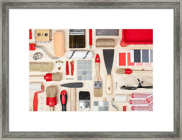 Decorating And House Renovation Tools Framed Print