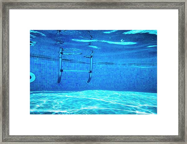 Deep Of Swimming Pool Framed Print by Cinoby