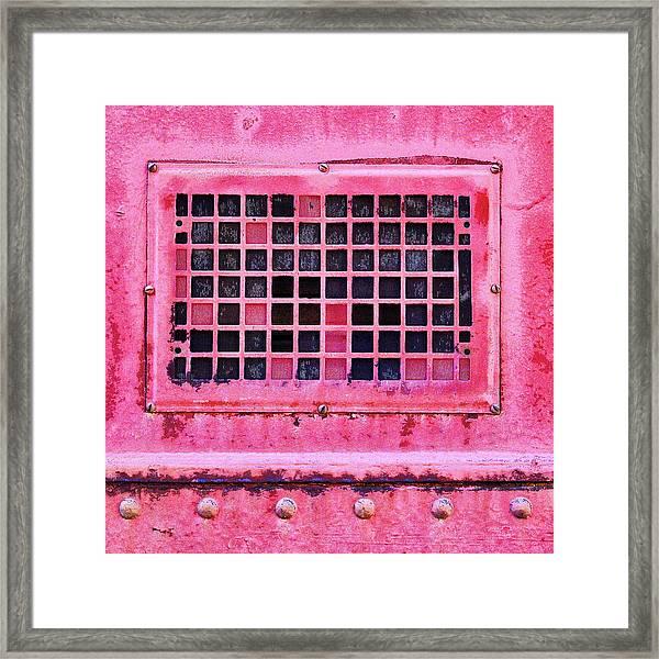 Deep Pink Train Engine Vent Square Format Framed Print