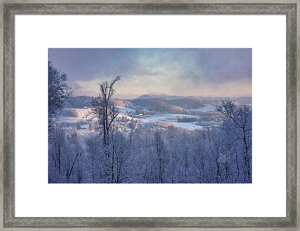 Deer Valley Winter View Framed Print