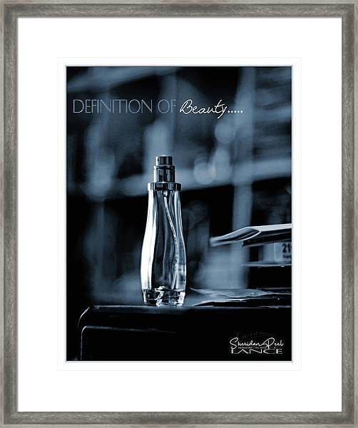 Definition Of Beauty Framed Print