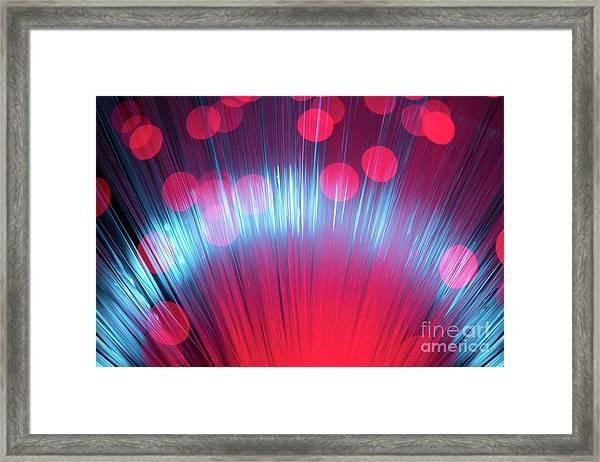 Defocused Fiber Optic Framed Print by Miragec