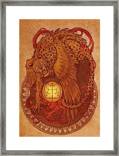 Demons Of Goetia Haures / Flauros Framed Print by Cambion Art