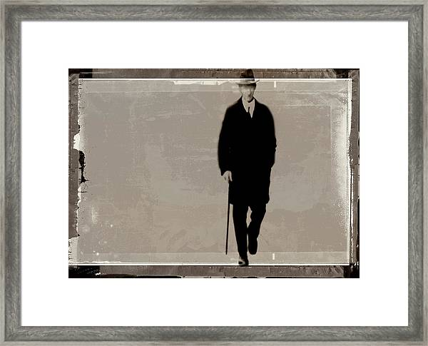 Denmark, Aarhus, Old Man With Hat Framed Print