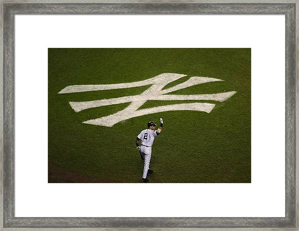 Derek Jeter Walks To The Plate Framed Print