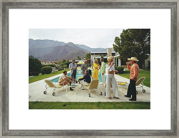 Desert House Party Framed Print