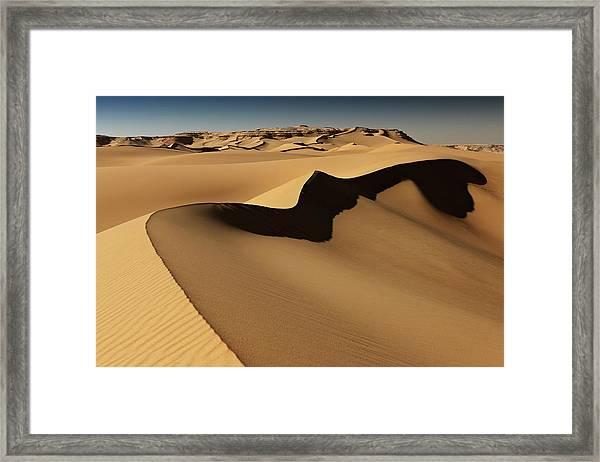 Desert Landscape, Sand Dunes, Western Framed Print