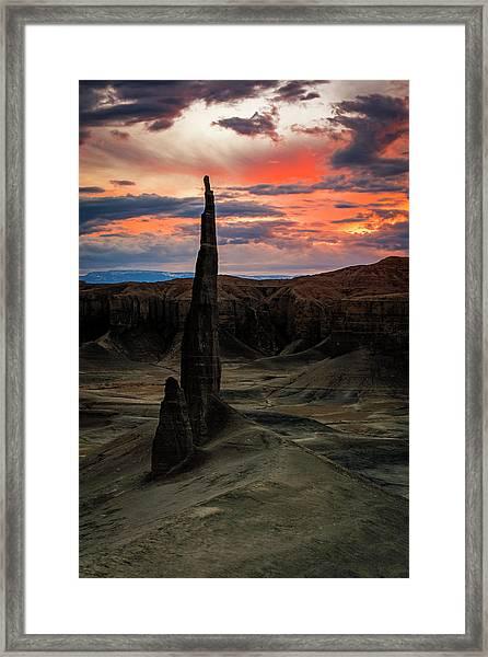 Desert Spire Framed Print by Johnny Adolphson