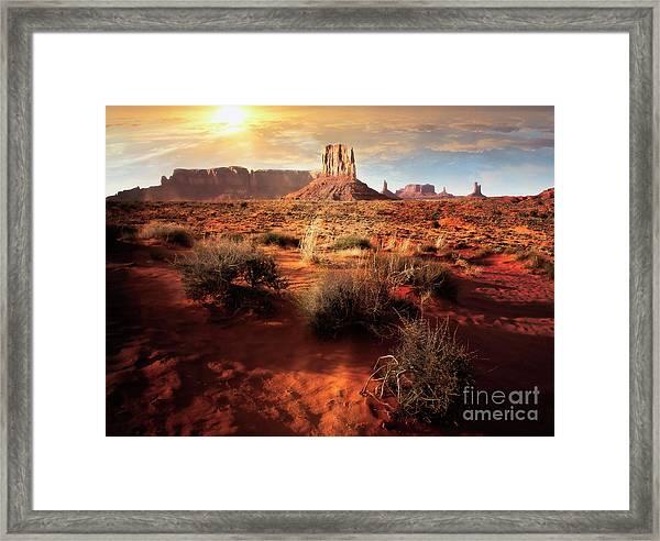 Desert Sun Framed Print