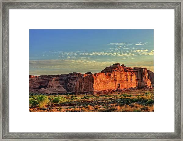 Desert Sunrise In Color Framed Print