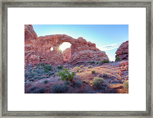 Desert Sunset Arches National Park Framed Print