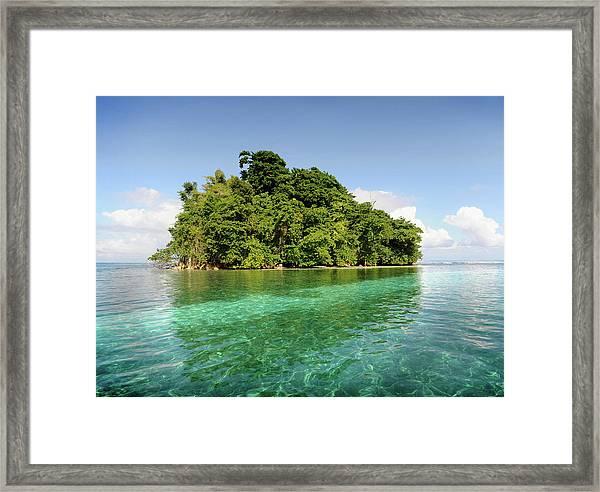 Deserted Tropical Island Framed Print
