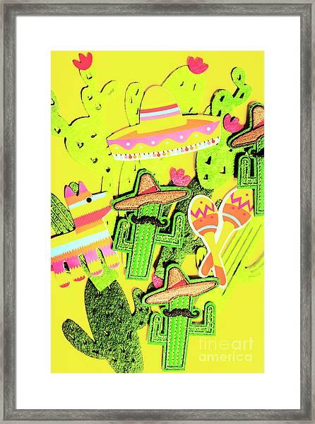 Desertly Decorated Framed Print