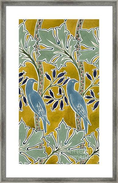 Design For 'new Silk Cloth, May 1901  Framed Print