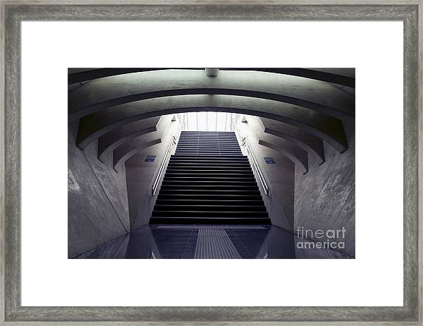 Design Stairs To The Arrival And Framed Print