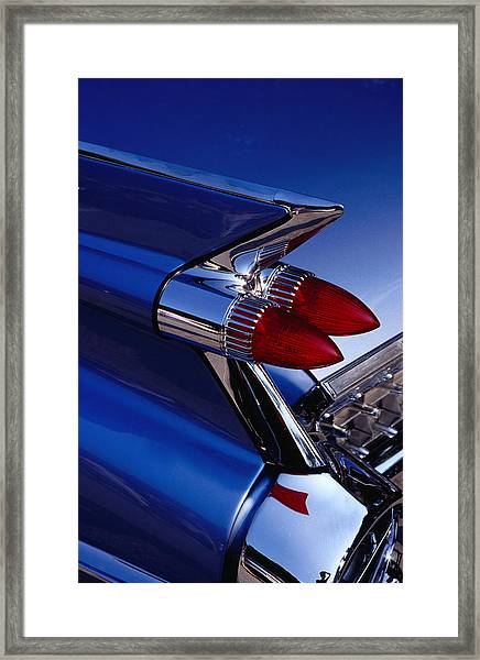 Detail Of An American Cadillac, Eze Framed Print