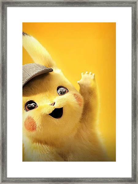 Detetive Pikachu Framed Print