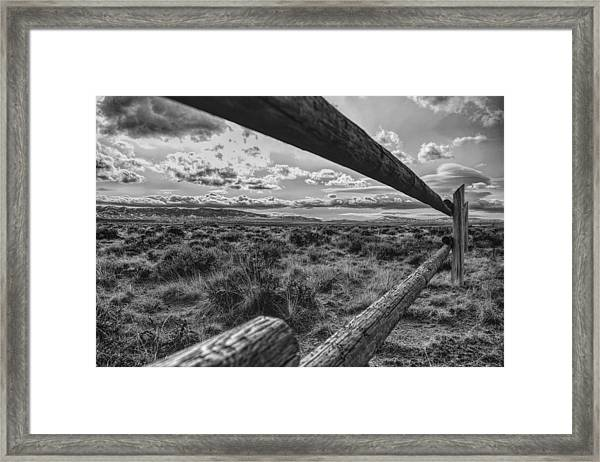 Framed Print featuring the photograph Devil's Gate Fence by Chance Kafka