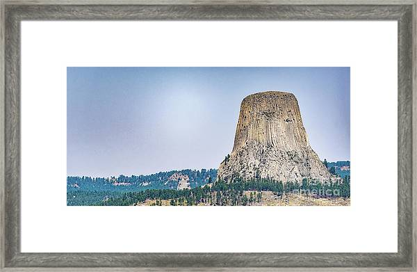 Devils Tower Framed Print