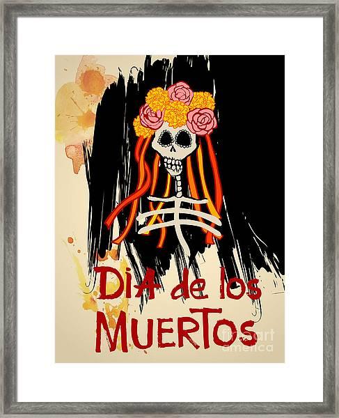 Dia De Los Muertos Day Of The Dead Framed Print