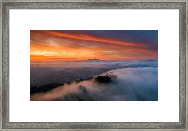Diablo Rising Framed Print by Vincent James