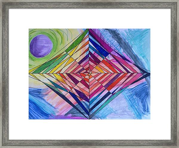 Diamond Web Framed Print
