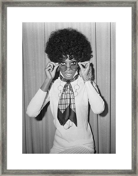 Diana Ross Framed Print