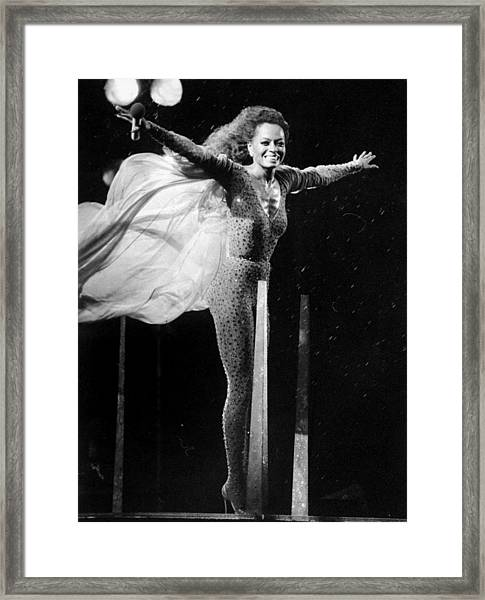 Diana Ross Seems Ready To Take Off At Framed Print
