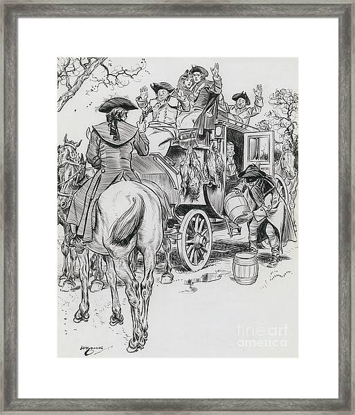 Dick Turpin, Rookwood Framed Print