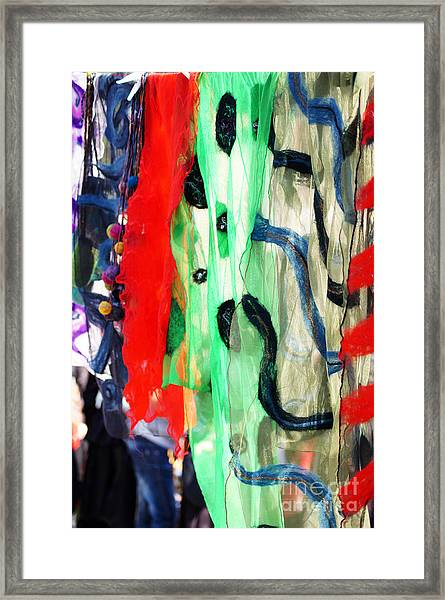 Different Colors Scraft On The Street Framed Print