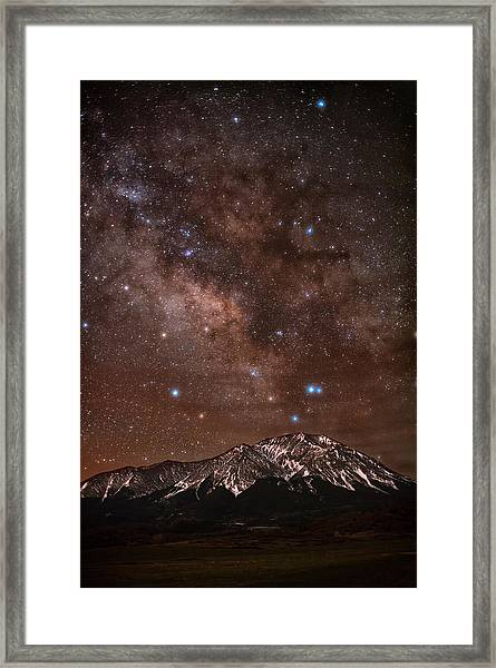 Diffused Milk Over The Spanish Peaks Framed Print by Mike Berenson / Colorado Captures
