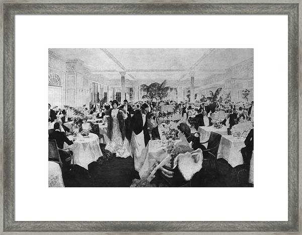 Dining At The Savoy Framed Print