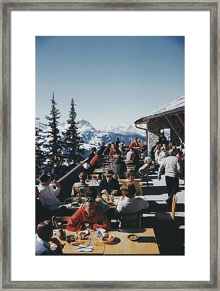 Dining In Gstaad Framed Print