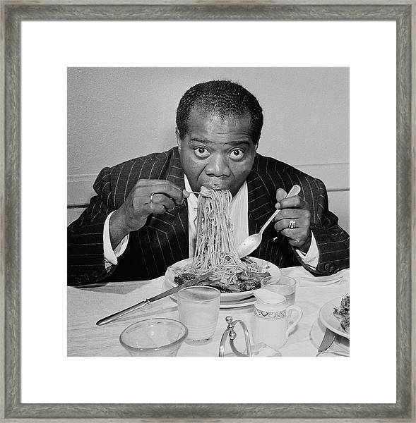 Dinner Jazz Framed Print