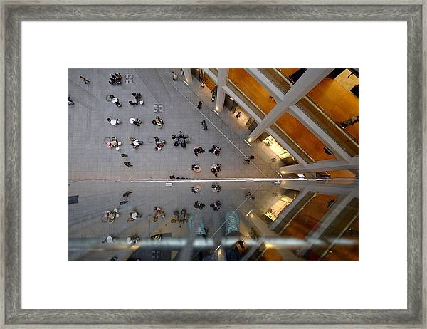 Directly Above Shot Of People Outside Framed Print by Atsushi Fujikawa / Eyeem