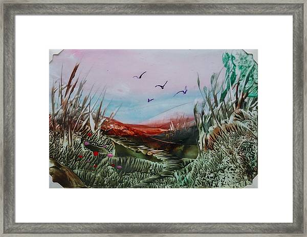 Disappearing Pathway Framed Print