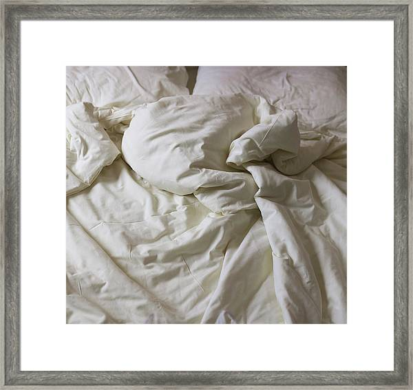 Discarded Bed, Early Morning Framed Print